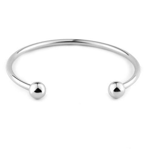 Women Stainless Steel Starter Bracelet Bangle DIY Jewelry Fit Charm Beads (Rose Gold or Silver Option)