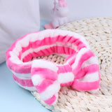 OMG Letters Wash Face Headband Girls Headwear Hairbands Coral Fleece Hair Accessories