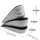 Womens Mens Increased Insole Invisible Comfortable Heighten insoles Insert Half insole Care Support feet shoe pad Heel Pads