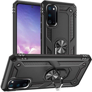 for Samsung Galaxy S20 S20+/S20 Ultra 5G S10 S9 Note 10 Plus A51 Case,Drop Tested Protective Kickstand Magnetic Car Mount Case