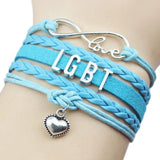 lgbt Pulsera Rainbow Lesbians Gays Bisexuals Transgender Bracelets for Women Girls Pride Woven Braided Men Couple Jewelry Gifts