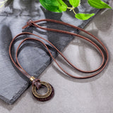 jewelry vintage Rome genuine leather Necklace statement necklaces & pendants