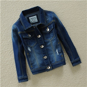 Outwear for boys and girls denim jacket coat children's clothing Cotton Kids clothes jean Coat baby clothes