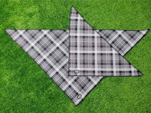Bosco & Co Cooling Bandana: Black & White Tartan