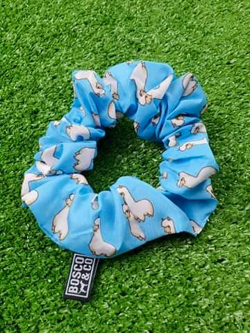 Bosco & Co Scrunchie: Blue Alpaca