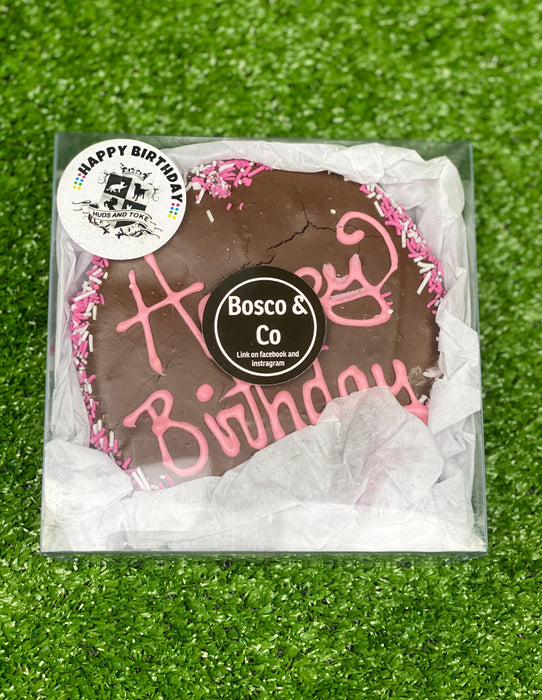 Birthday Biccy - Carob Frosted