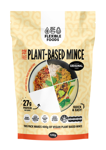 Soy Free Plant Based Mince 'Flexible Foods' 100g