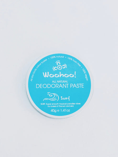 WooHoo All Natural Travel Tin Deodorant Paste