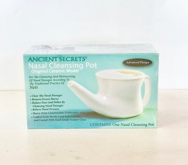 Nasal Cleansing Pot And Cleansing Salt