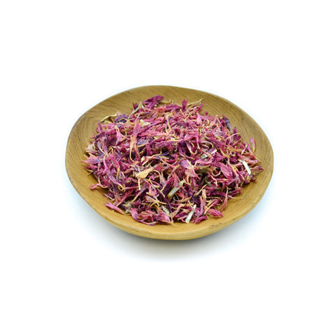 Organic purple pink cornflowers
