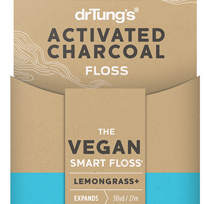 Activated charcoal floss with lemongrass