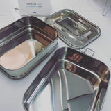 Stainless steel lunch box double stack 1 L CHEEKI