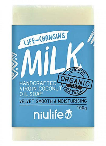 "NIULIFE ""Certified Organic Virgin Coconut Oil Soap"" - Milk 100g"