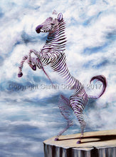 Load image into Gallery viewer, Cloud Zebra, Original oil painting