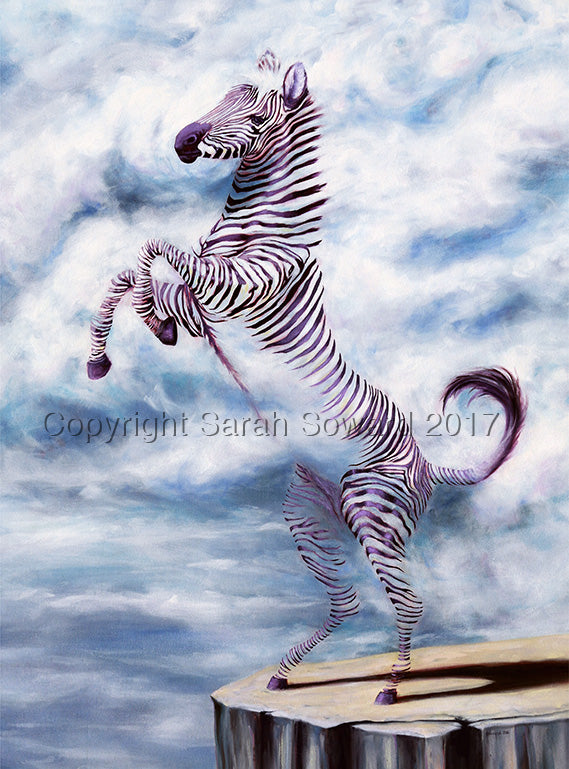 Cloud Zebra, Original oil painting