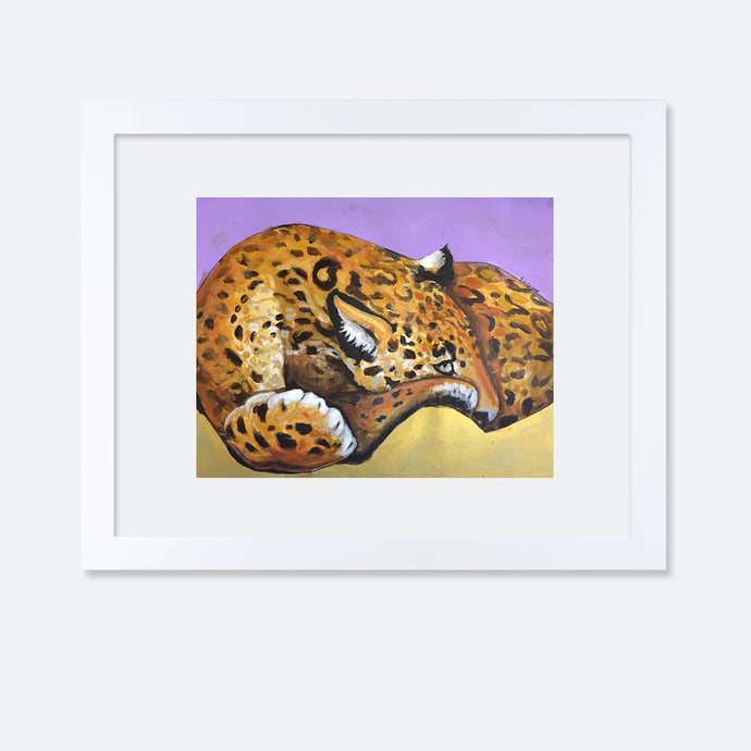 Holding Space, Collaboration Artwork, Resting Leopard
