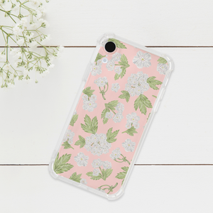 Hawthorn Flower Pattern Phone Case