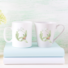 Load image into Gallery viewer, Letter Q Floral Monogram Mug