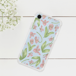 Lady Slipper Orchid Pattern Phone Case