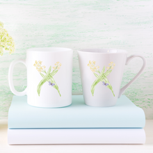 Load image into Gallery viewer, Letter X Floral Monogram Mug