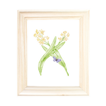 Load image into Gallery viewer, Letter X Initial Art Print