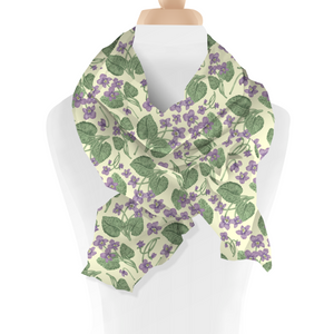 Meadow Violet Flower Scarf