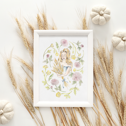 Virgo Sign Art Print