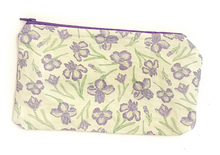 Load image into Gallery viewer, Iris flower Zipper Pouch