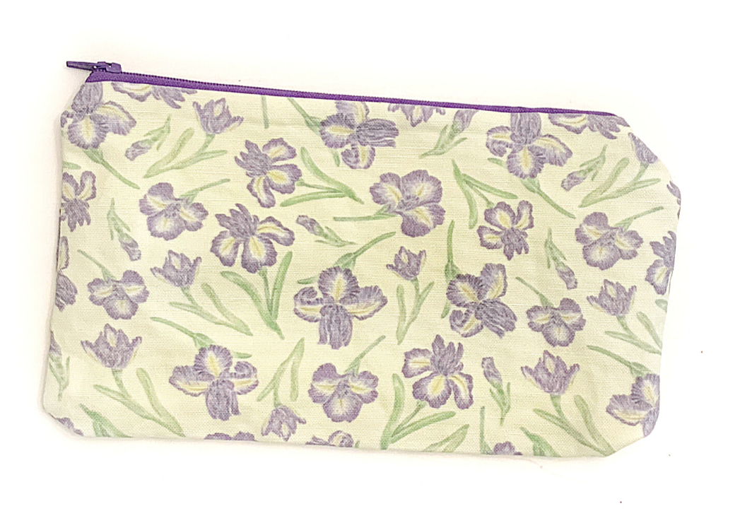Iris flower Zipper Pouch