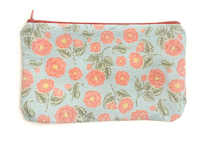 Japanese Camellia Zipper Pouch