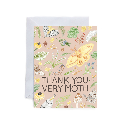 Thank you very Moth Folded Card