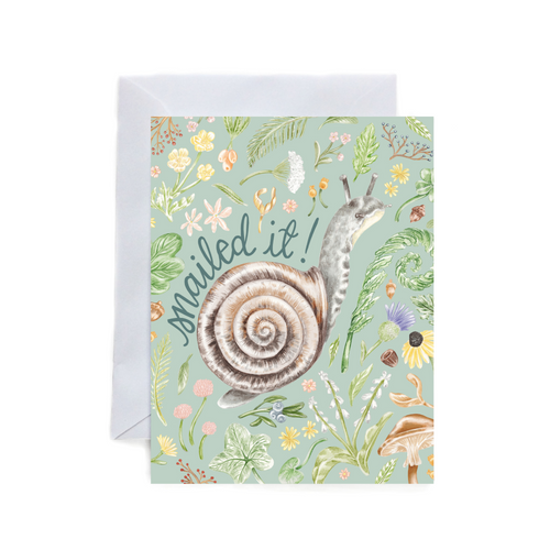 Snailed it - greeting card