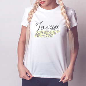 Tennessee State Map T-shirt