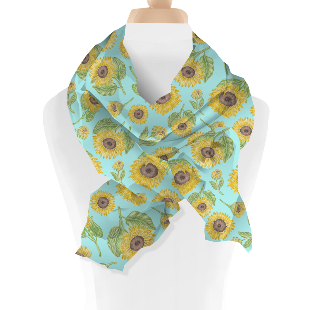 Sunflower Floral Scarf