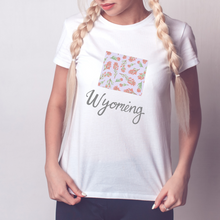 Load image into Gallery viewer, Wyoming State Map T-shirt