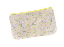 Load image into Gallery viewer, Yellow Jasmine Zipper Pouch