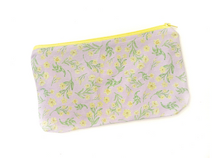 Yellow Jasmine Zipper Pouch
