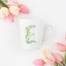 Load image into Gallery viewer, Letter E Floral Monogram Mug