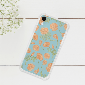 California Poppy Pattern Phone Case