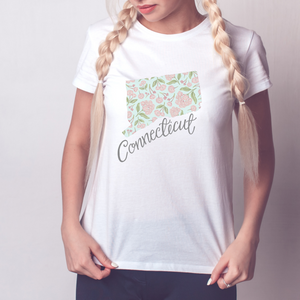 Connecticut State Map T-shirt