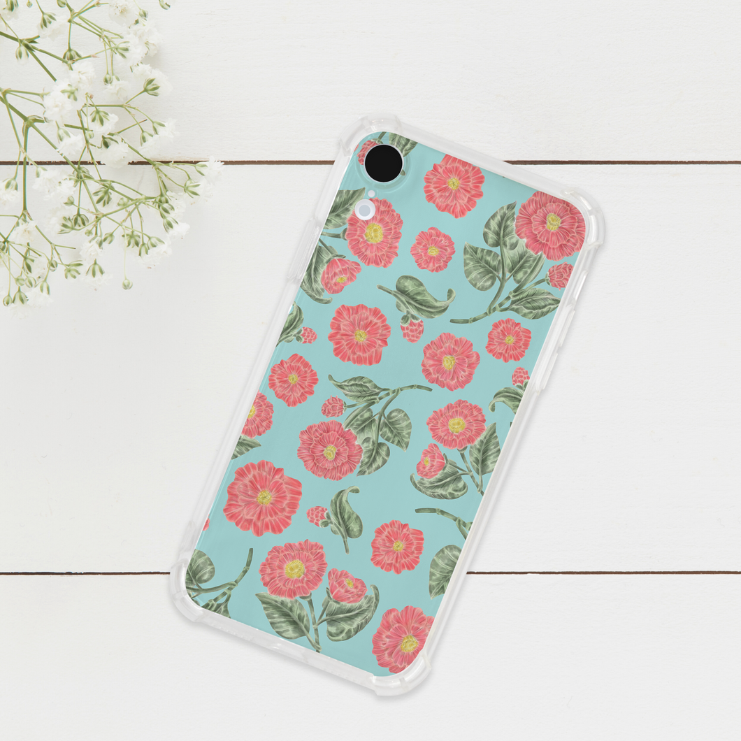 Japanese Camellia Pattern Phone Case