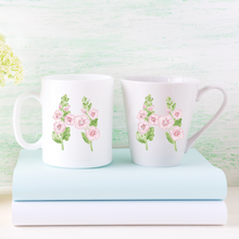Load image into Gallery viewer, Letter H Floral Monogram Mug
