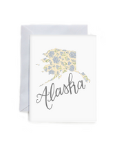 Load image into Gallery viewer, Alaska State Flower Map Art Print