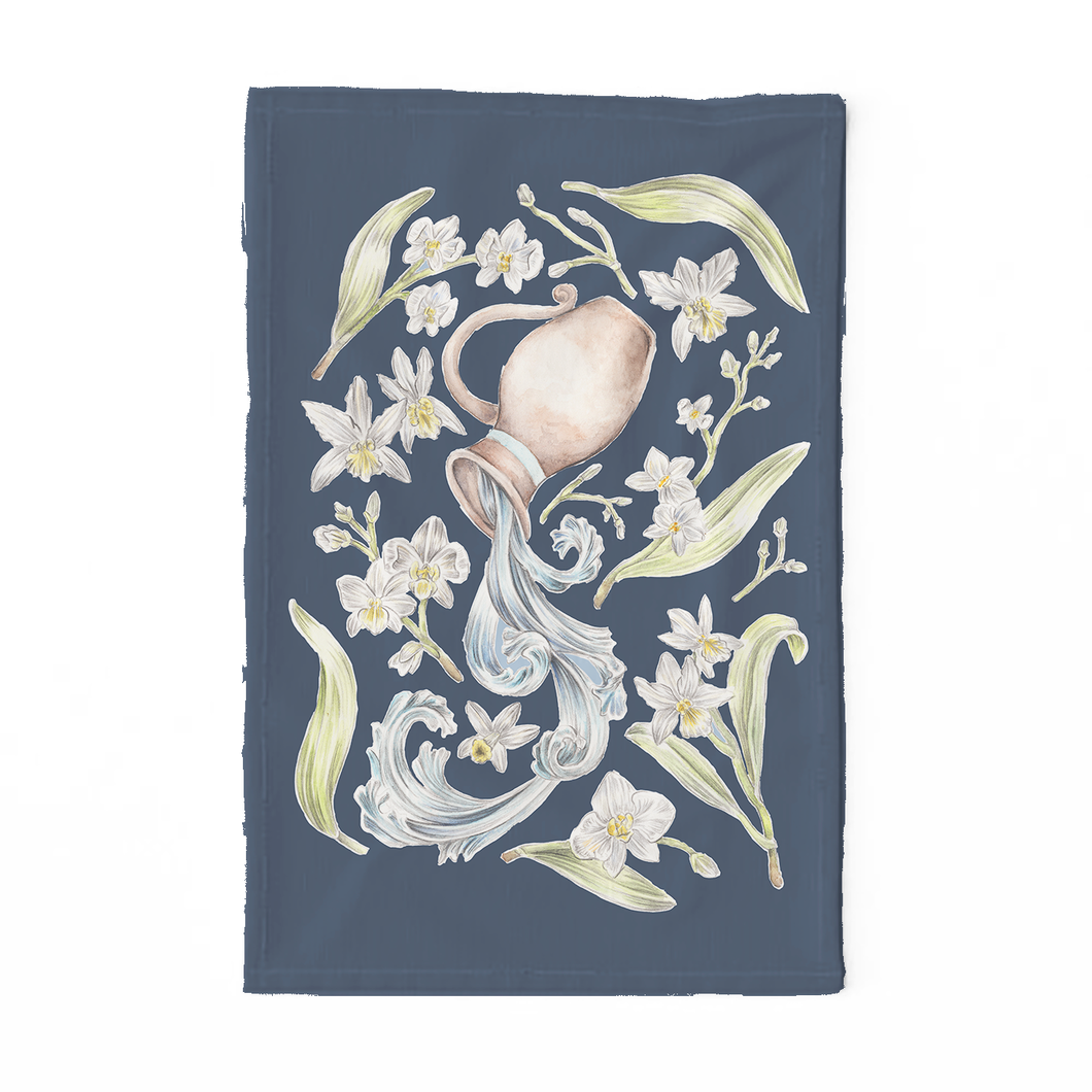 Aquarius Sign Tea Towel