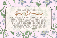 Load image into Gallery viewer, Blue Columbine Tea Towel