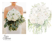 Load image into Gallery viewer, Bridal Bouquet Custom Artwork