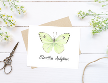 Load image into Gallery viewer, Cloudless Sulphur Butterfly Folded Card