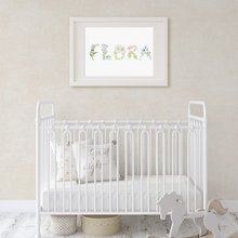Load image into Gallery viewer, Custom Baby Name Flower Art Print