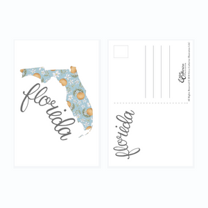 Florida State Map Post Card