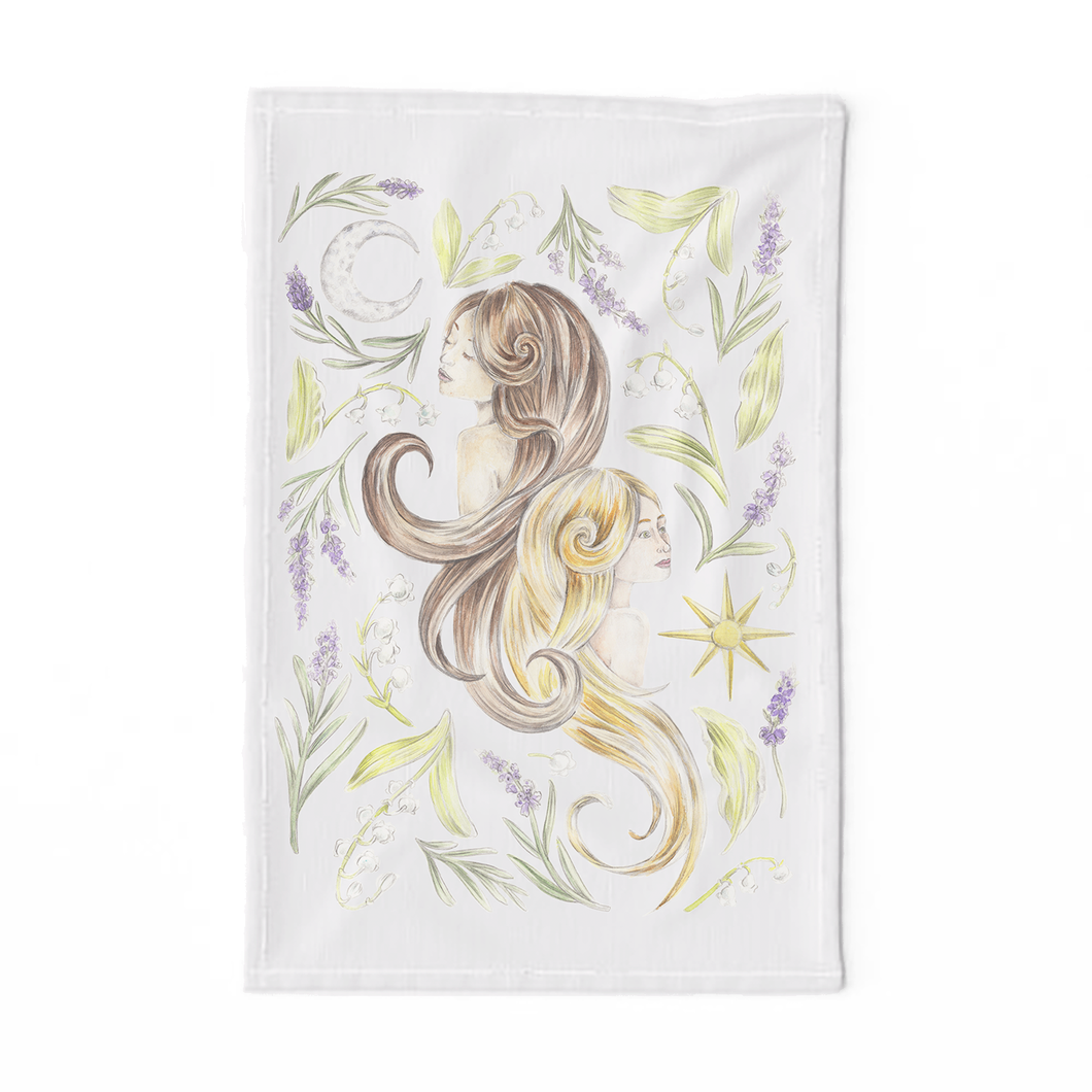 Gemini Sign Tea Towel